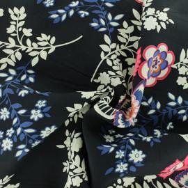 Tissu Viscose Nessie - noir x 10cm