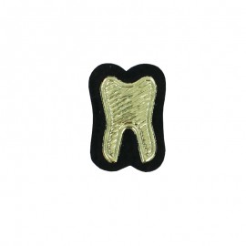 Sew-on Tooth Patch - Gold