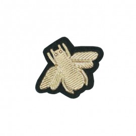 Sew-on Bee Patch - Gold