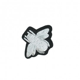 Sew-on Bee Patch - Silver