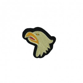 Sew-on Eagle Head Patch - Gold