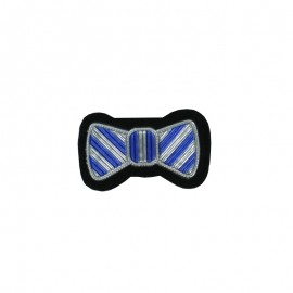 Sew-on Bow Tie Patch - Silver