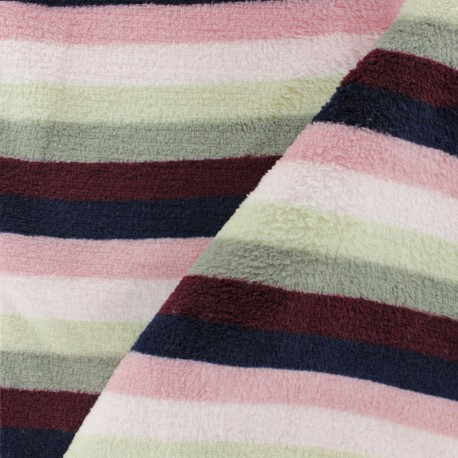 Striped Flanell fleece fabric - Orange mini x 10cm