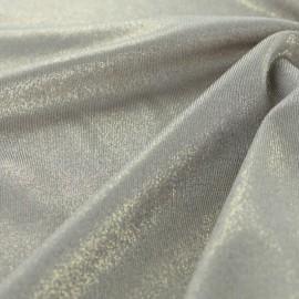 Tissu Lycra lurex - sable x 10cm