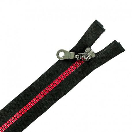 Fermeture Eclair® Non Séparable Moulée Disco - Noir/Rouge