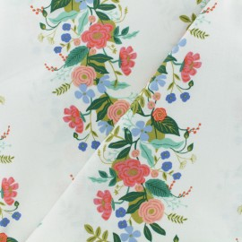 ♥ Coupon 190 cm X 110 cm ♥ Tissu coton Cotton + Steel Rifle Paper - Garden Vines Crème