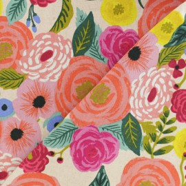 Cotton + Steel cotton canvas fabric - Rifle Paper Juliet Rose x 10cm