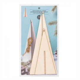 Rico Design Wooden 3D Christmas Tree Set
