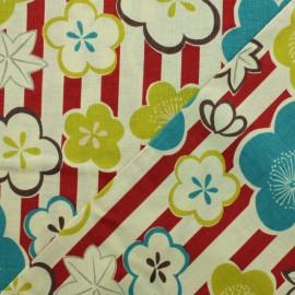 Kokka Cotton fabric - Red Ume Kaede x 10cm