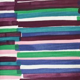 Tissu Double Gaze de coton Kokka Grace - violet x 10cm