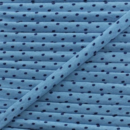 7 mm Frou-Frou Dot Cord - Intense Blue B