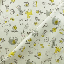 Tissu Toile de Coton Kokka Little Animals - Naturel x 10cm