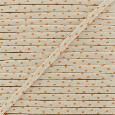 7 mm Frou-Frou Dot Cord - Mandarine B