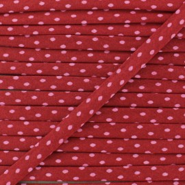 7 mm Frou-Frou Dot Cord - Bright Ruby A