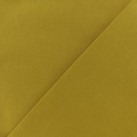 Tissu Coton uni - jaune Curry x 10cm