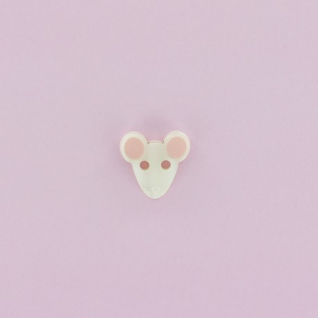 12 mm Polyester Button - Ecru Mouse