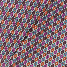 Cretonne cotton fabric - Multicolour Tapajos x 10cm