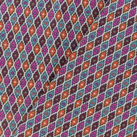 Cretonne cotton fabric - Multicolour Tapajos x 10cm