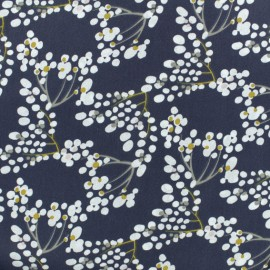 Cretonne cotton Fabric - Blue Yoichi x 10cm