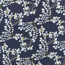 Tissu coton cretonne Yoichi - bleu nuit x 10cm