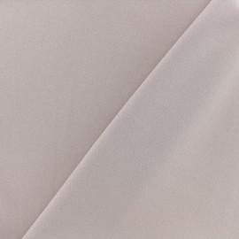 Tissu jersey crêpe - rose brume x 10cm
