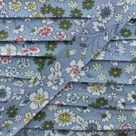 Biais Coton Frou-Frou 20 mm - Fleur de Lin x 1m