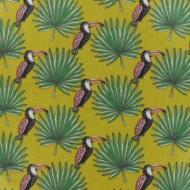 Cretonne cotton fabric - curry yellow Mambo x 10cm