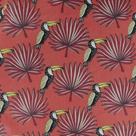 Cretonne cotton fabric - Orange Mambo x 10cm