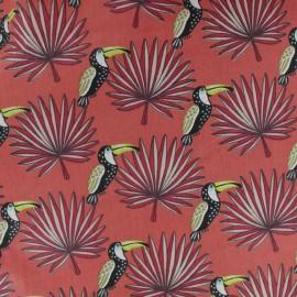 Tissu coton cretonne Mambo - Orange x 10cm