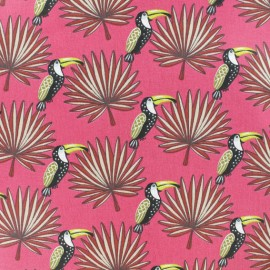 Cretonne cotton fabric - Fuchsia Pink Mambo x 10cm