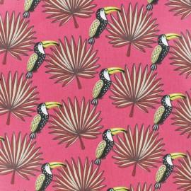 Tissu coton cretonne Mambo - Fuchsia x 10cm