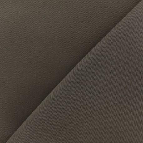 Tissu coton sergé - brun x 10cm