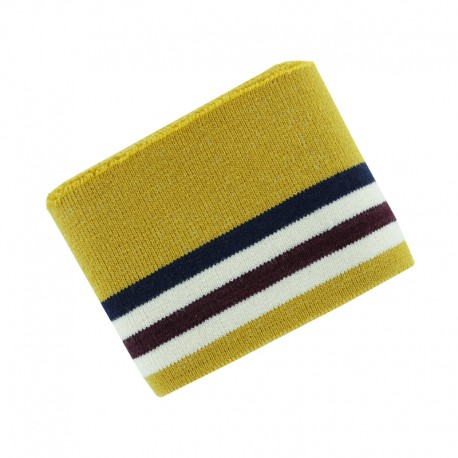 Organic Cotton Ribbing Cuffs (110x7cm) - Mustard College