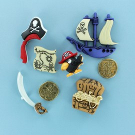 Lot de Boutons Enfant (3 pcs) - Pirates