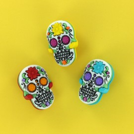 18 mm Child Buttons Set - Dia de los Muertos