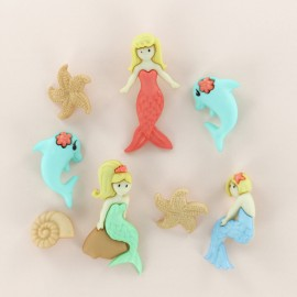 Child Buttons Set - Mermaid