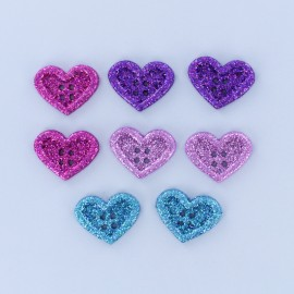 Child Buttons Set - Glitter Heart