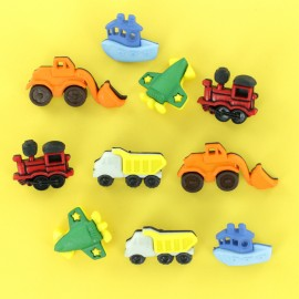 Child Buttons Set - Trucks & Co