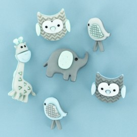 Child Buttons Set - Baby Animal