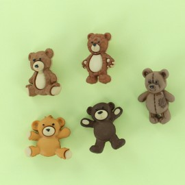 Child Buttons Set - Teddy Bear