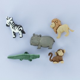 Child Buttons Set - Noah's Animals