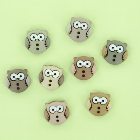Child Buttons Set - Owl