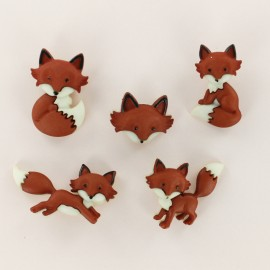 Child Buttons Set - Fox