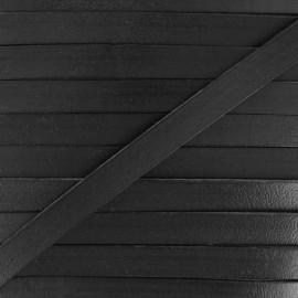 10 mm Flat Leather Strip - Black x 50cm