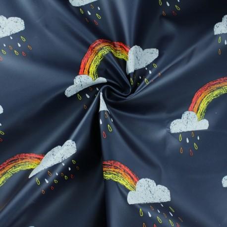 Tissu enduit spécial ciré Rainbow - bleu marine x 10cm