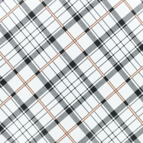 Tissu enduit spécial ciré William - blanc x 10cm
