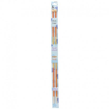 Eco-Friendly Wooden Knitting Needles 35 cm - Pony Flair