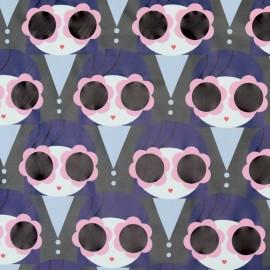 Tissu enduit spécial ciré Brigitte - violet x 10cm