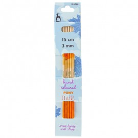 15 cm Wooden Double Pointed Knitting Needles - Pony Flair