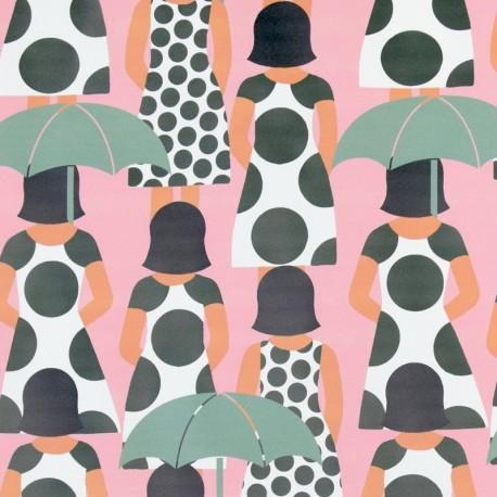 Special rain waterproof fabric - blue Nana x 10cm